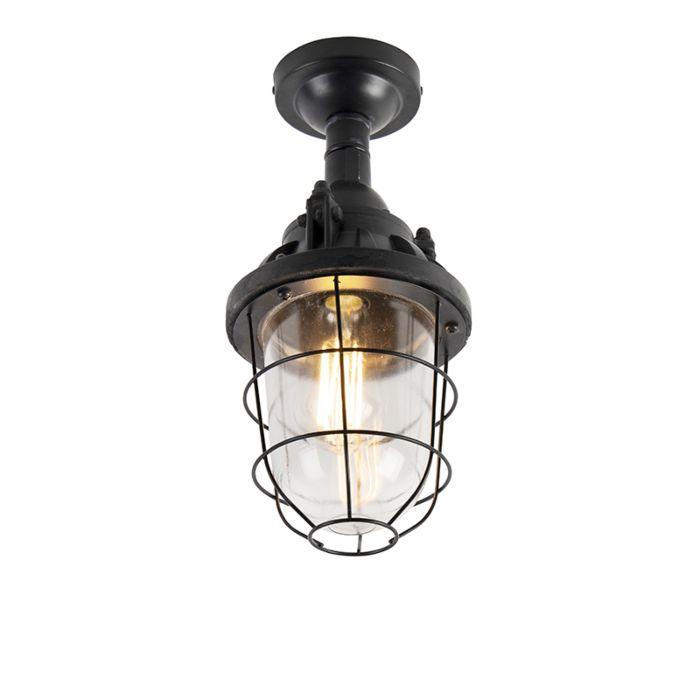 Industriell-taklampa-svart---Stuga
