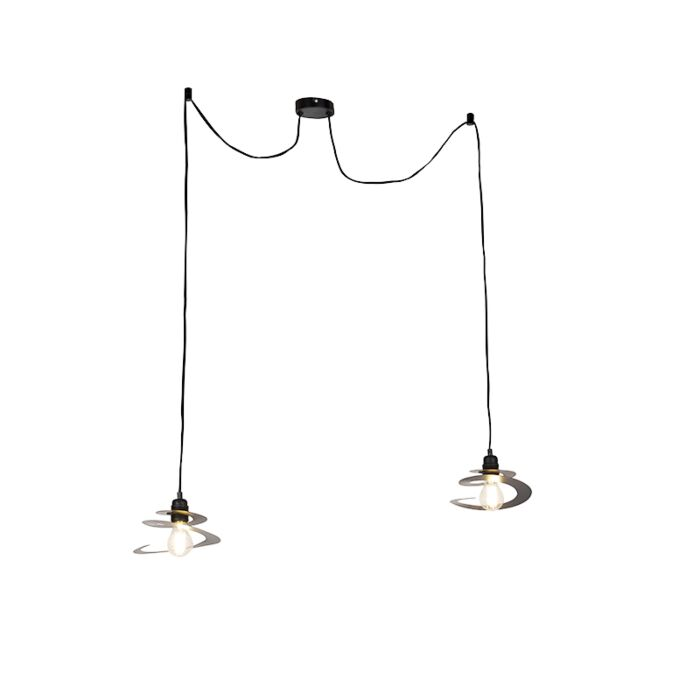 Design-hängande-lampa-2-lampor-med-spiralskugga-20-cm---Rulla