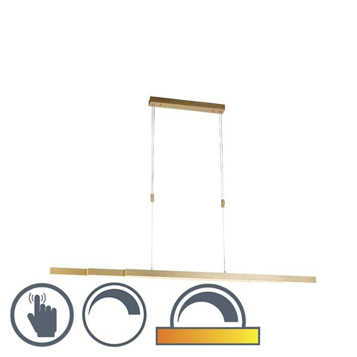 Justerbar-hängande-lampa-mässing-dim-till-varm-inkl-LED---Juliet