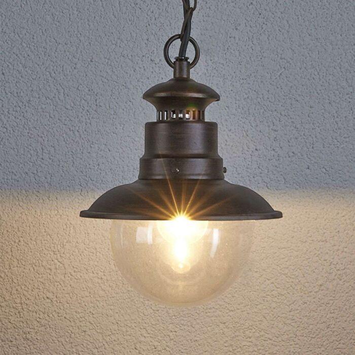 Industriell-rundhängande-lampa-rostbrun---Eddie