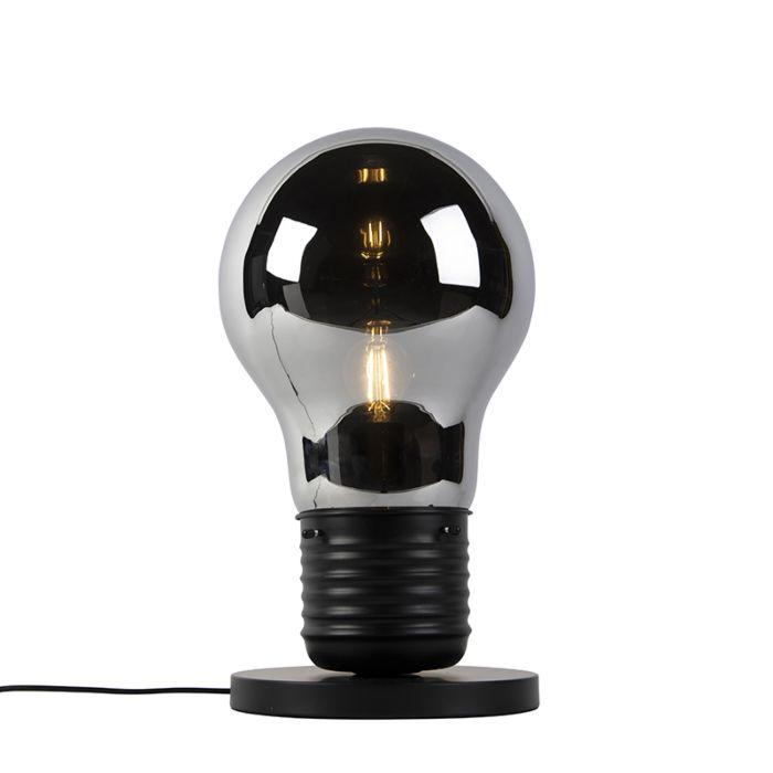 Designbordslampa-svart-med-rökglas---Nigrum