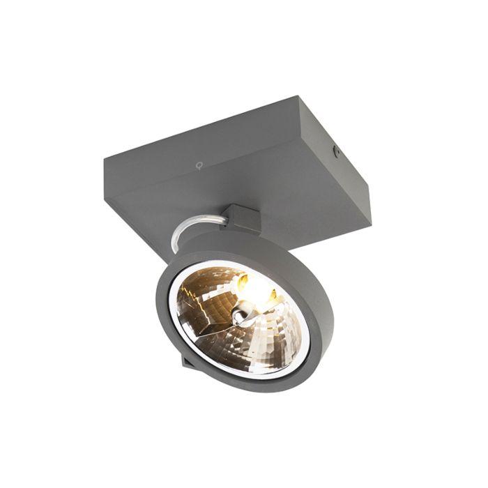 Design-spotlight-grå-justerbar-1-ljus-inkl-LED---Go