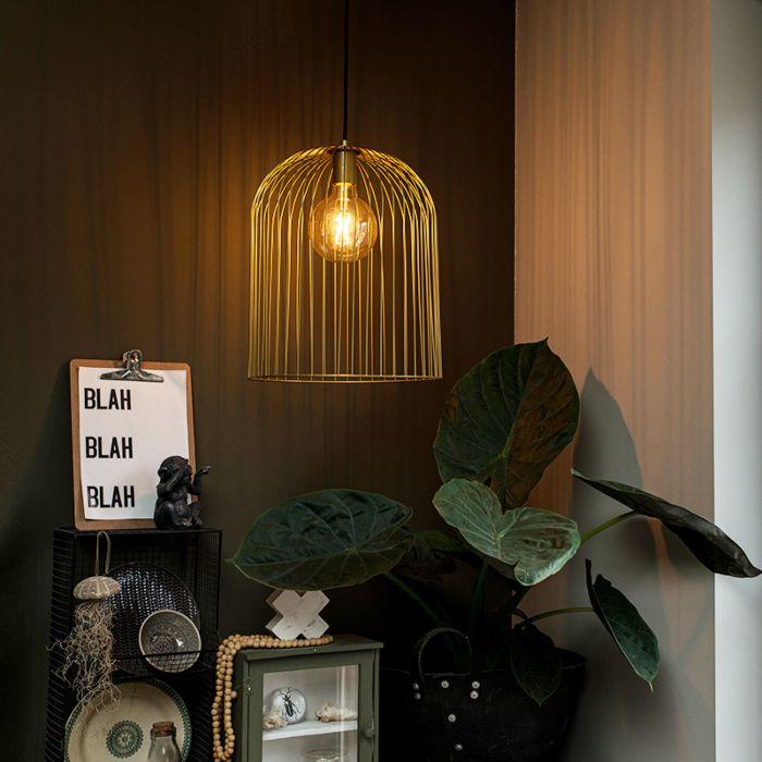 Design-hängande-lampa-guld---Wire-Knock