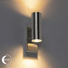 Yttervägg-ljusstål-IP44-med-ljusmörk-sensor---Duo