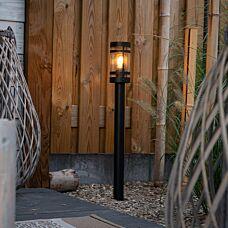 Modern-utomhuslampa-svart-80-cm-IP44---Gleam