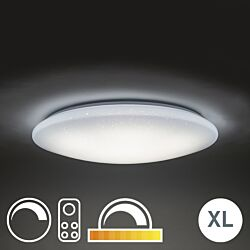 Taklampa vit inkl RGB LED med fjärrkontroll Bex